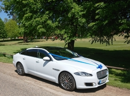 Jaguar XJL wedding car in Ashford, Kent